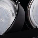 Kanlux LED AR111 inbouwspot zwart vierkant - Dubbelvoudig voor 2 LED AR111 spots
