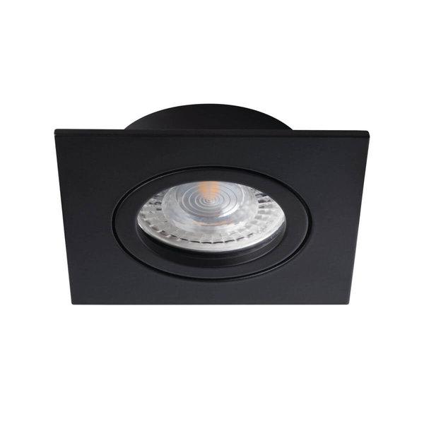 Kanlux LED GU10 inbouwspot zwart vierkant - zaagmaat 70mm buitenmaat 82mm