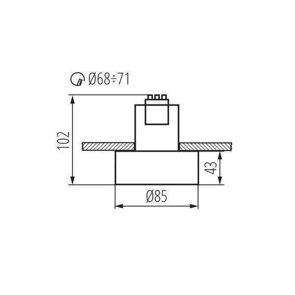 Kanlux plafondspot MINI RITI GU10 B/G