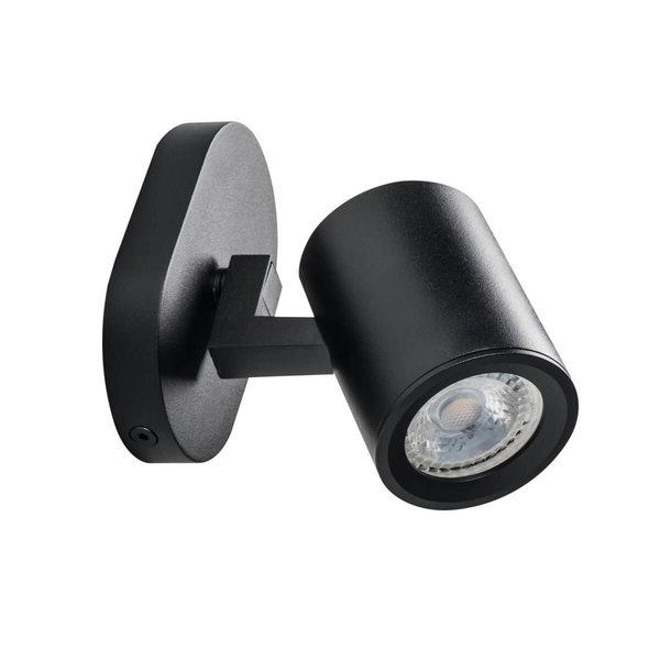 Kanlux LED GU10 plafond - wandspot zwart - Enkelvoudig voor 1 LED GU10 spot