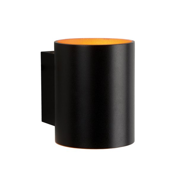 Spectrum LED wandlamp zwart goud rond - G9 aansluiting