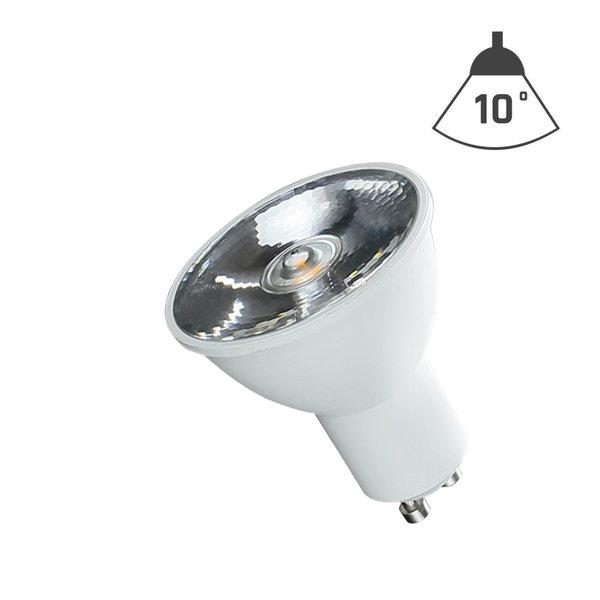 LED spot GU10 - 6W vervangt 40W - 4000K helder wit licht - 10° lichtspreiding