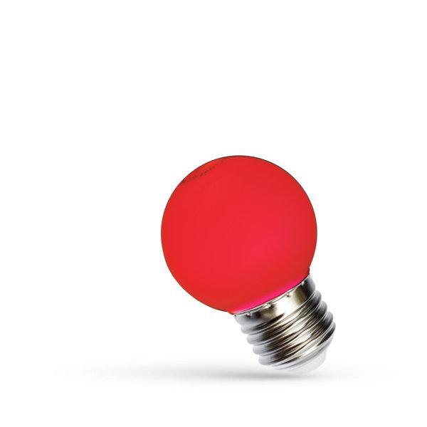 LED lamp E27 - G45 1W Rood licht