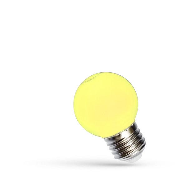 LED lamp E27 - G45 1W Geel licht