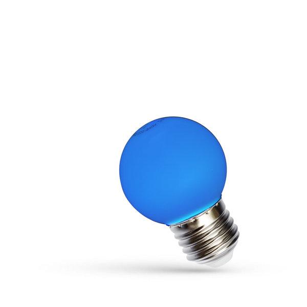 LED lamp E27 - G45 1W Blauw licht