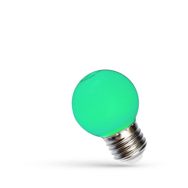 LED lamp E27 - G45 1W Groen licht