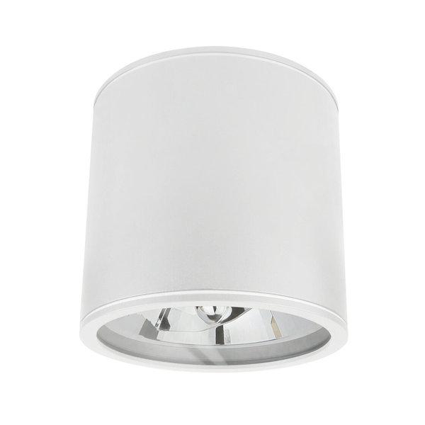 Spectrum LED AR111 plafondspot wit rond IP65 - met GU10/AR111 fitting - excl. LED spot