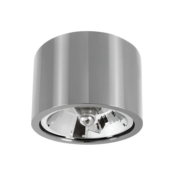 Spectrum LED AR111 plafondspot zilver metaal rond IP20 - met GU10/AR111 fitting - excl. LED spot