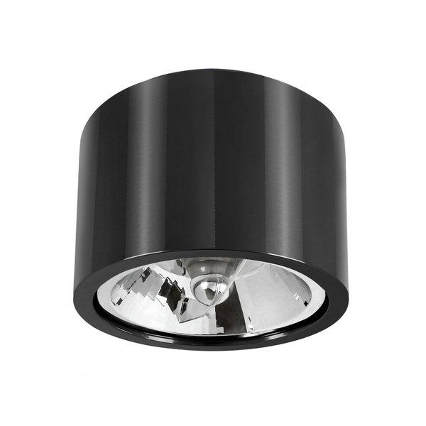 Spectrum LED AR111 plafondspot zwart metaal rond IP20 - met GU10/AR111 fitting - excl. LED spot