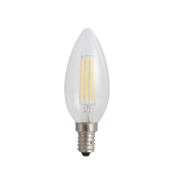 LED lamp E14 - C35 Filament - 4W vervangt 40W - 3000K warm wit licht