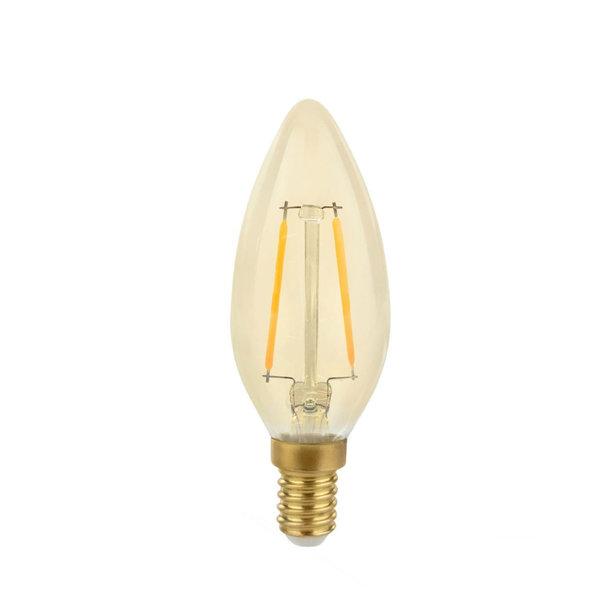 LED lamp E14 - C35 Filament - 5W vervangt 50W - 2500K extra warm wit licht