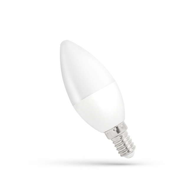 LED lamp E14 - C37 1W vervangt 10W - 4000K helder wit licht