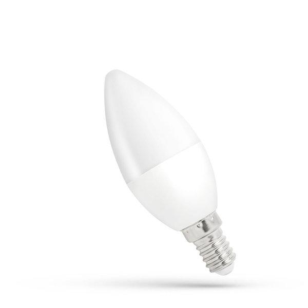 LED lamp E14 - C37 6W vervangt 40-60W - 3000K warm wit licht