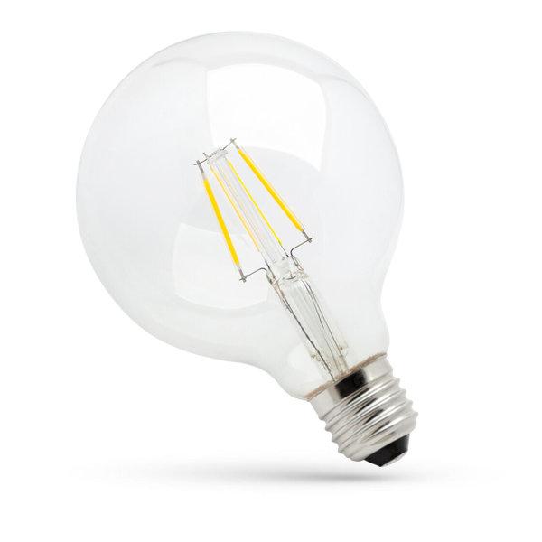 LED lamp E27 - G95 Filament - 4W vervangt 40W - 3000K warm wit licht