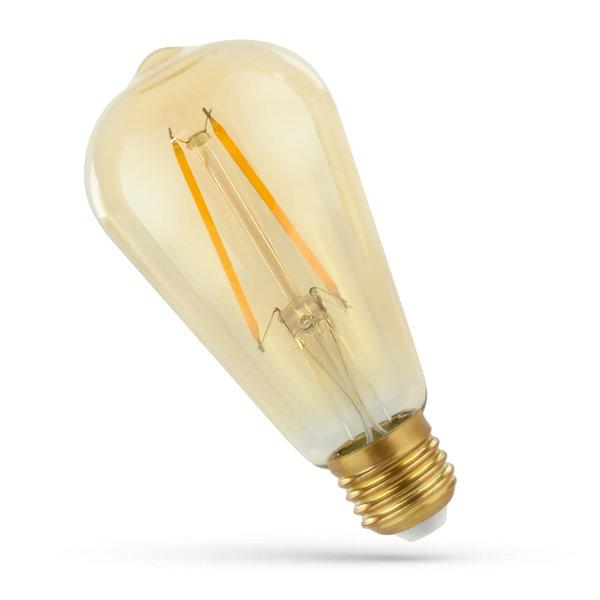 LED lamp E27 - ST58 Filament - 5W vervangt 50W - 2500K extra warm wit licht