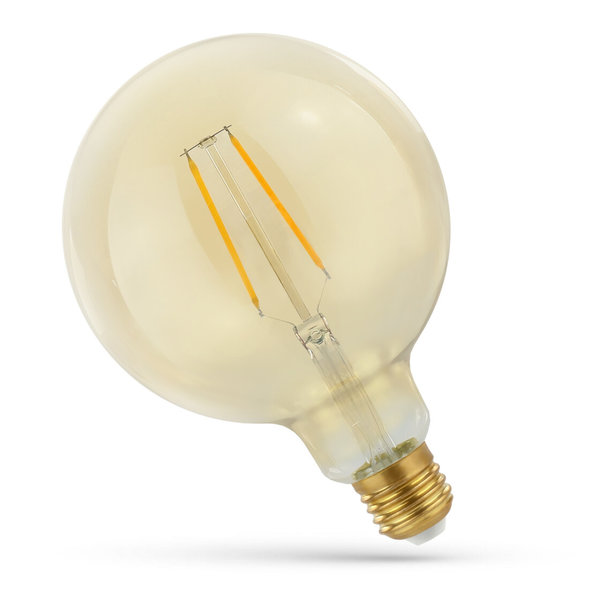 LED lamp E27 - G125 Filament - 5W vervangt 50W - 2500K extra warm wit licht