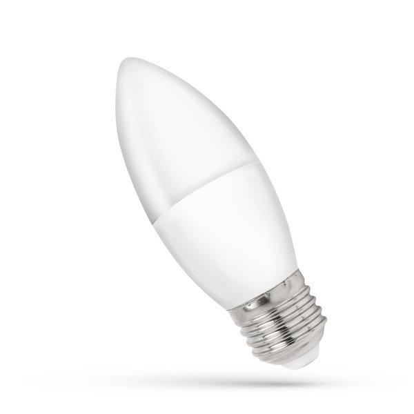 LED lamp E27 - C37 1W vervangt 10W - 4000K helder wit licht