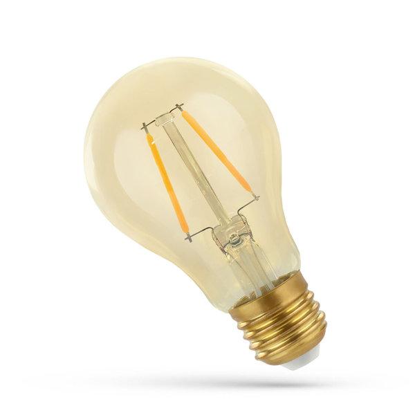 LED lamp E27 - A60 Filament - 5W vervangt 50W - 2500K extra warm wit licht
