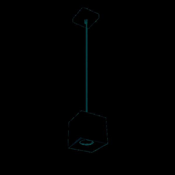 Kanlux LED GU10 plafondspot verlaagd zwart vierkant - 65cm kabellengte - Max. 40W