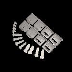 LED paneel opbouw montagebeugels Type B - Bevestiging zonder opbouw frame