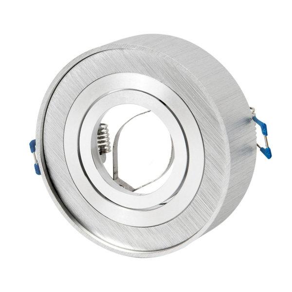 LED inbouwspot geborsteld aluminium rond - kantelbaar - zaagmaat 75mm - buitenmaat 96mm