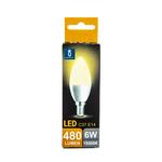 LED lamp E14 - C37 6W - 3000K warm wit licht