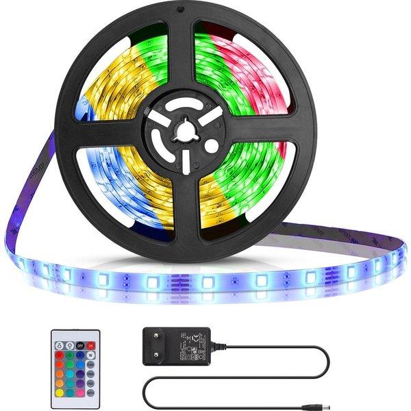 LED strip RGB - 5m 12V 24W - 30 LEDs p/m - Complete set