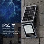 10XHP Solar Schijnwerper - 30W - 6500K - IP65 - met bewegingssensor