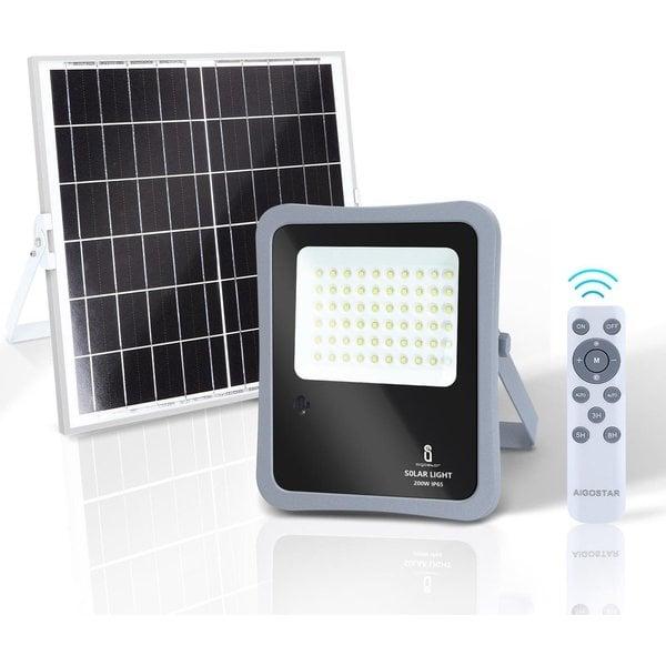 Solar Schijnwerper10XHS IP65 - 300W - 6500K - met afstandsbediening