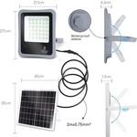 10XHR Solar Schijnwerper - 100W - 6500K - IP65 - met bewegingssensor