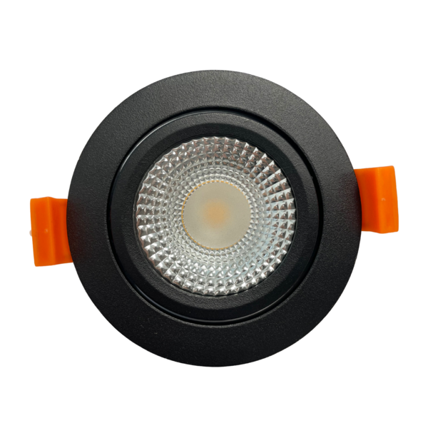 LCB LED inbouwspot zwart dimbaar - 5W vervangt 50W -  Dim to Warm 1800k-2800K
