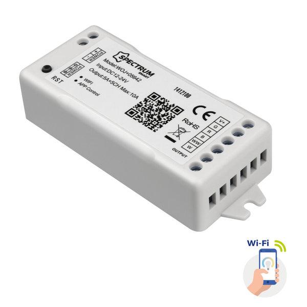 Spectrum WiFi LED strip controller - 12V/24V 5A - RGB + CCT