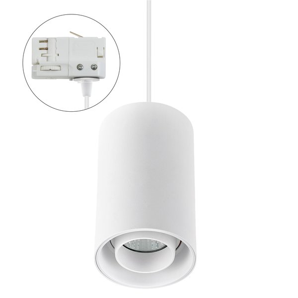 Spectrum LED Railspot Wit met GU10  fitting - Universeel 3-Fase - excl. LED GU10
