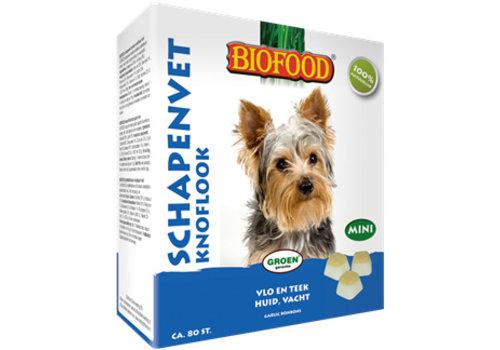 Biofood Biofood | Schapenvet mini knoflook | knoflook | schapenvet | 80 stuks