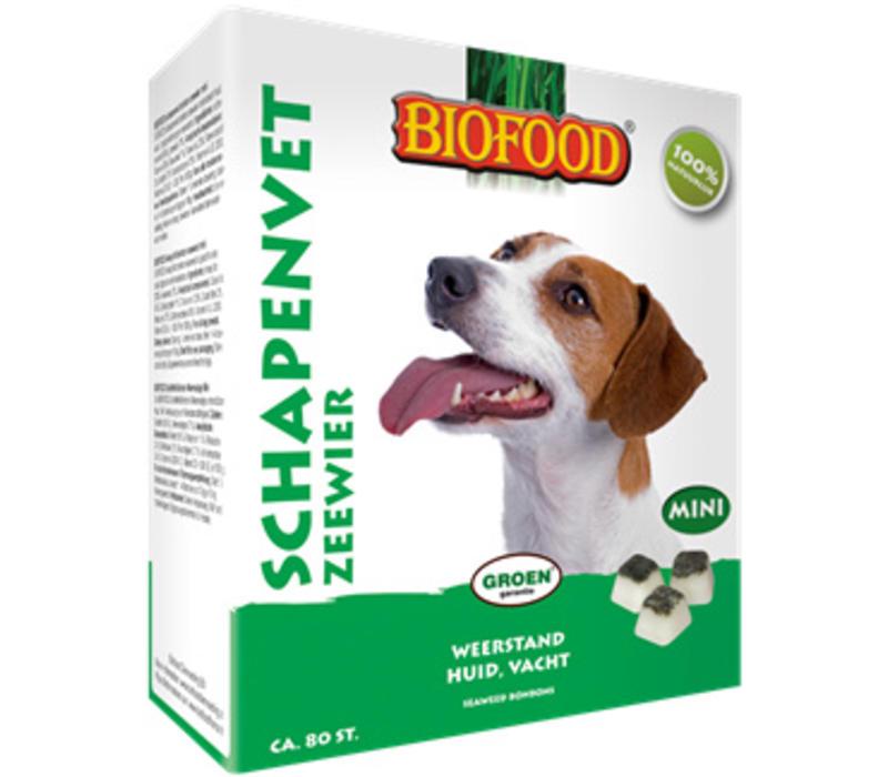 Biofood | Schapenvet mini zeewier | zeewier | vet | 80 stuks