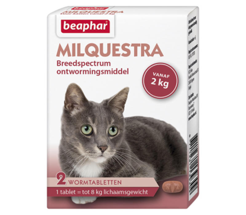 Beaphar | Milquestra kat | 2 tab | tot 8 kg