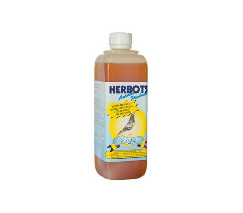 4 Olien (tarwekiem, levertraan, look en zonnebloemolie)