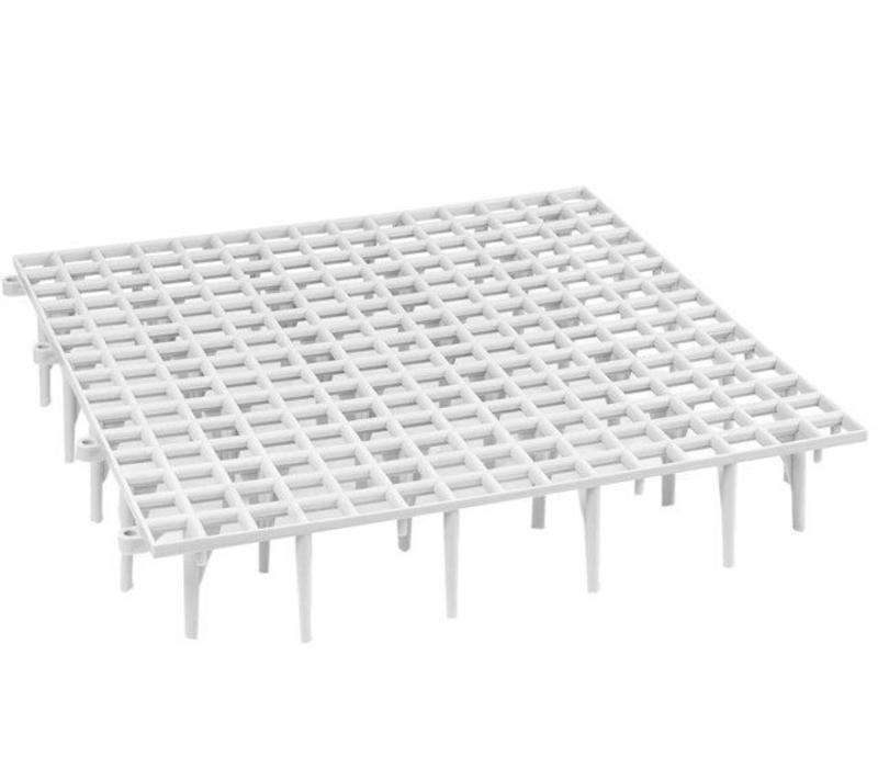 Vloerrooster plastic op poten 50x50x8CM Grijs