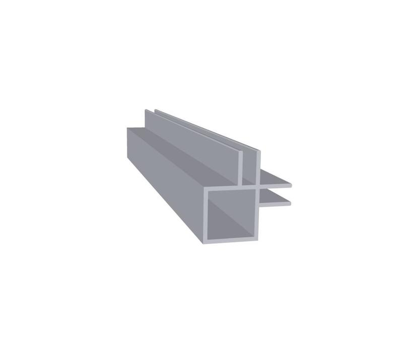 Aluminium Koker 20 x 20 x 1,5 mm | 2 flens (binnen hoek) 4 mm