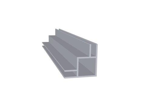 Aluminium Koker 20 x 20 x 1,5 mm | 2 flens (buitenhoek) 3 mm