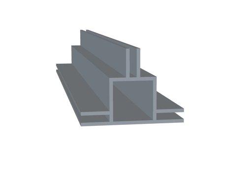 Aluminium Koker 20 x 20 x 1,5 mm | 3 flens 3 mm