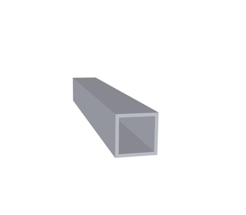 Aluminium Koker 25 x 25 x 2,0 mm