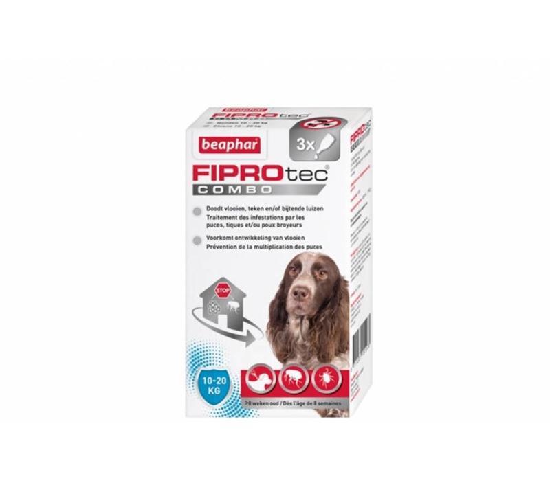 Beaphar | Fiprotec combo Dog 10-20KG | 3 pip | 10-20 KG