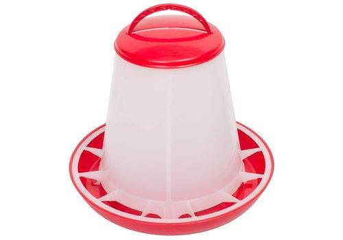 Olba Voerhopper MET deksel inhoud 1 kg (rood/wit)