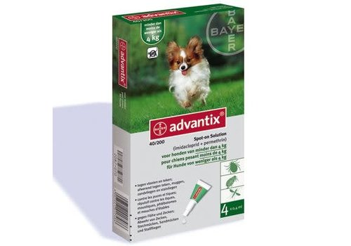 Advantix Advantix | Spot on 40 | 0,4 ml | 4 pip | 1 - 4 kg