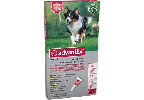 Advantix Advantix | Spot on 250 | 2,5 ml | 4 pip | 10 - 25 kg