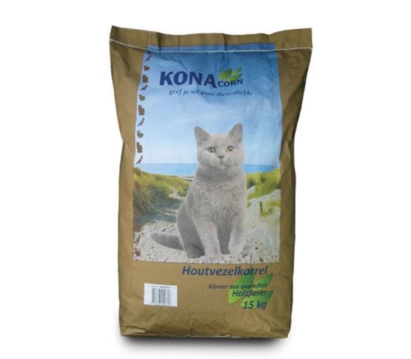 KC Kattenbakvulling houtvezelkorrel 15 kg