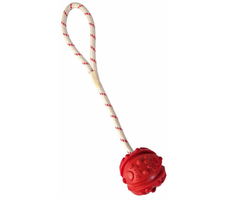 Speelgoed bal aan touw, drijvend 7 cm/35 cm assorti