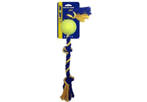 Pet Sport Medium 3-Knot Cotton Rope with Tuff Ball (6cm)
