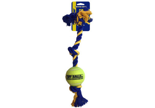 Pet Sport Mini 3-Knot Cotton Rope with Tuff Ball (4,5cm)